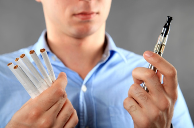 Choice between vaping and smoking