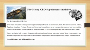 Hemp CBD Supplements